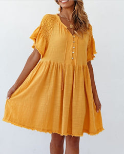 Sweet Pot Dress MUSTARD