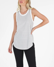 Load image into Gallery viewer, Keira Tank WHITE/BLACK STRIPE