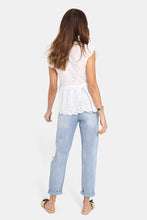 Load image into Gallery viewer, Madison the Label Lucinda Lace Top WHITE