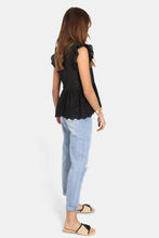 Load image into Gallery viewer, Madison the Label Lucinda Lace Top BLACK