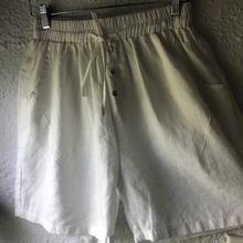 Load image into Gallery viewer, Worthier Linen Pants Shorts WHITE