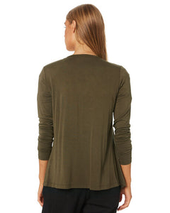 Betty Basics Melbourne Cardigan KHAKI