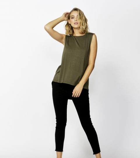 Betty Basics Capri Tank OLIVE