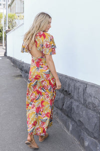 Lost in Lunar Coco Maxi Dress YELLOW