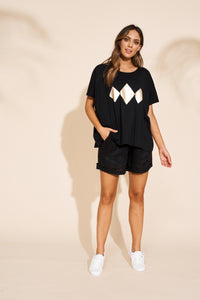 Eb & Ive Sable Tshirt BLACK