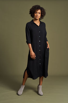 Eb & Ive Mahala Shirt Dress OYNX