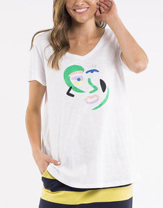 Elm Picasso Tee WHITE