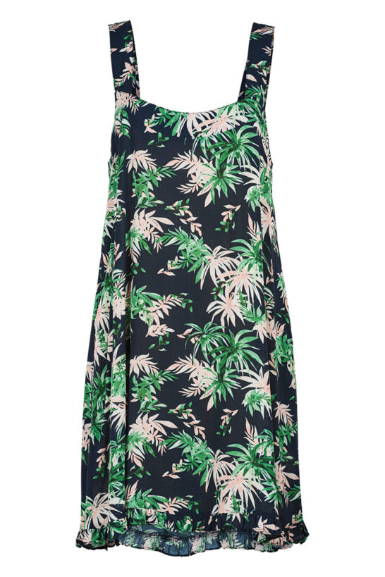 Haven Sardinia Tank Dress INDIGO PALM