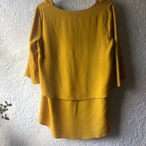Fate + Becker Breezy High-Low Hem Top MIMOSA YELLOW