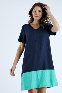 Elm Jade Shift Dress NAVY