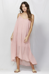 Fate & Becker Sunday Strap Maxi Dress Washed Pink