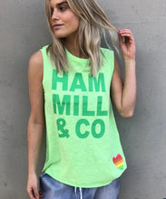 Load image into Gallery viewer, Hammill + Co Logo Tank GREEN
