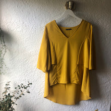 Load image into Gallery viewer, Fate + Becker Breezy High-Low Hem Top MIMOSA YELLOW