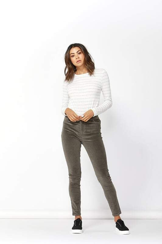 Betty Basics Logan Corduroy Pants KHAKI