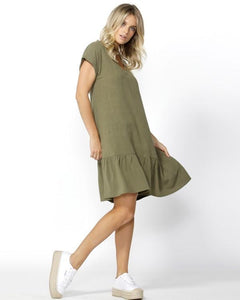 Betty Basics Ryland Dress KHAKI