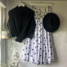 Load image into Gallery viewer, Bohemian Rell Circle Skirt BLACK SPOT  BT-SS18-H131