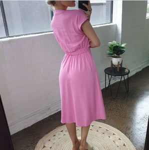 One Two Melbourne Dress HOT PINK