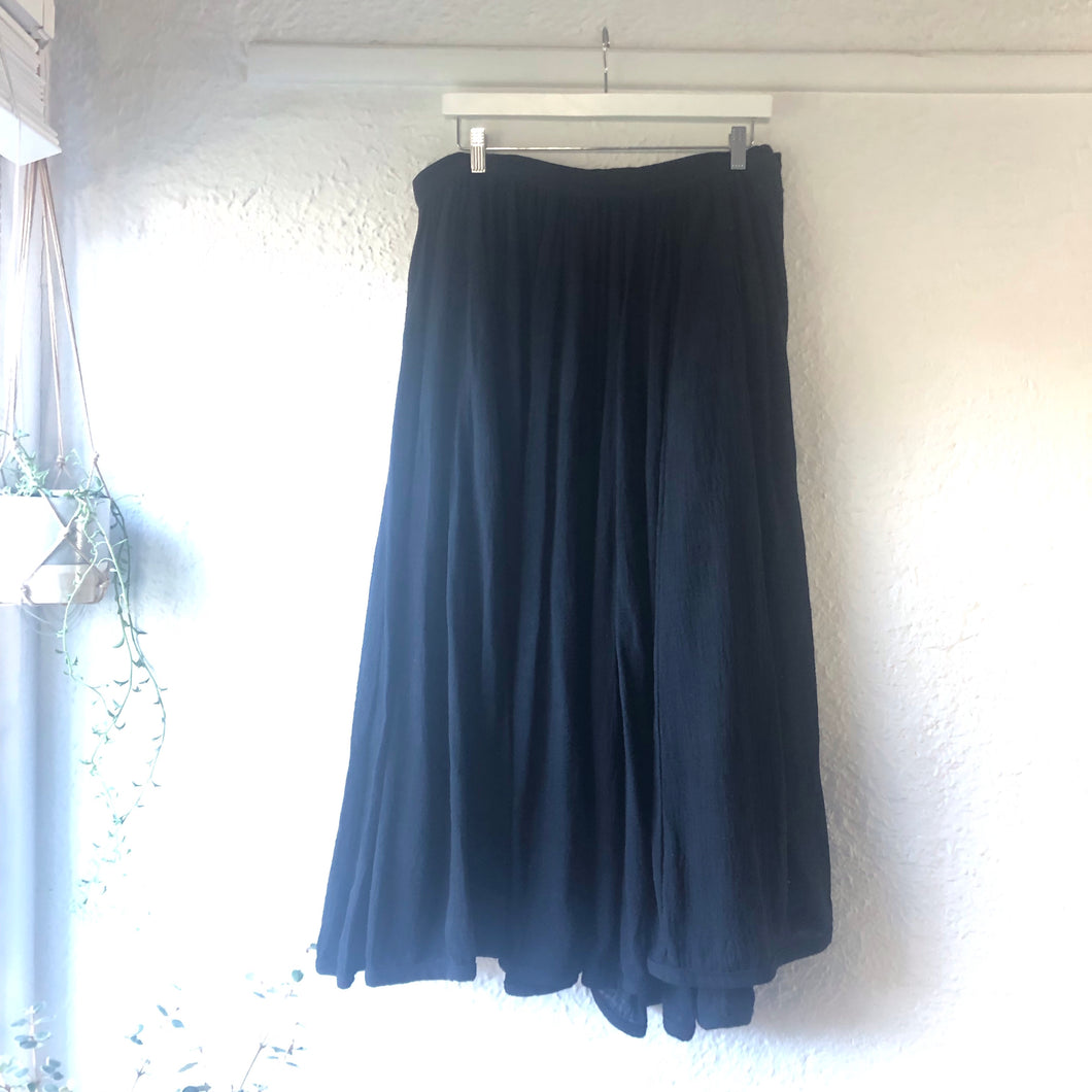 Bohemian Rell Circle Skirt BLACK  BT-SS18-H131
