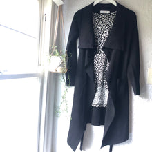 Load image into Gallery viewer, Sunny Girl Crepe Knit Cardigan BLACK