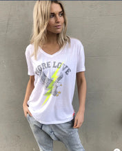 Load image into Gallery viewer, Hammill + Co Eagle V Neck Tee WHITE