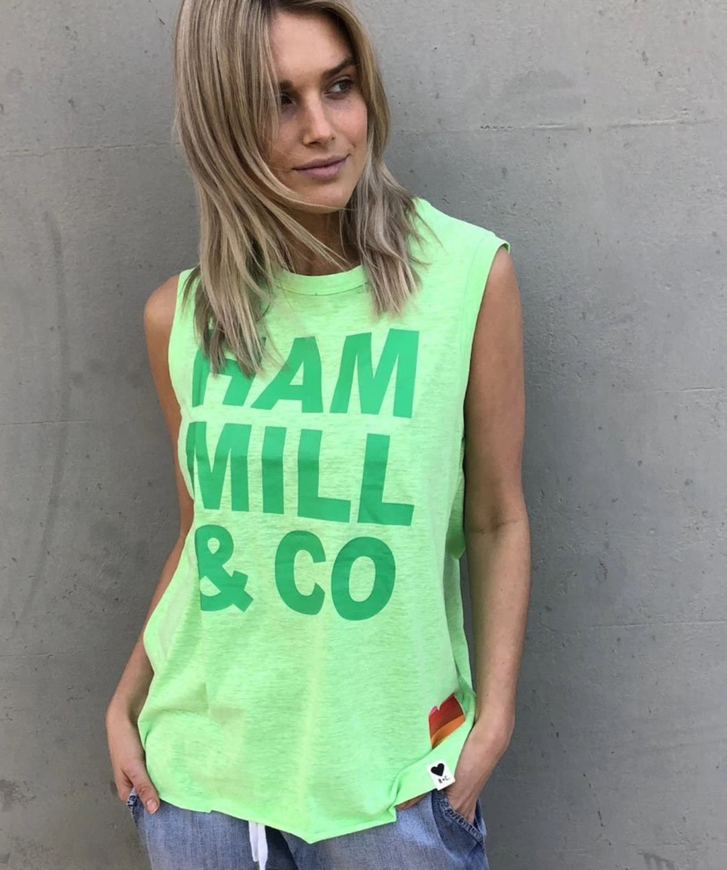 Hammill + Co Logo Tank GREEN