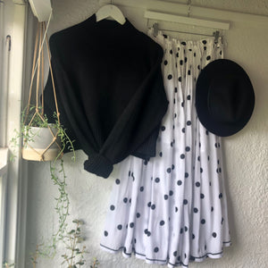 Bohemian Rell Circle Skirt BLACK SPOT  BT-SS18-H131