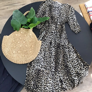Label Of Love Woven Dress LEOPARD