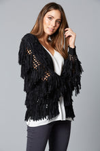 Load image into Gallery viewer, Isle Of Mine Shag Cardigan BLACK