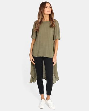Madison the Label June Top KHAKI