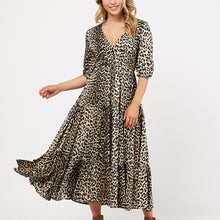 Load image into Gallery viewer, Label Of Love Woven Dress LEOPARD