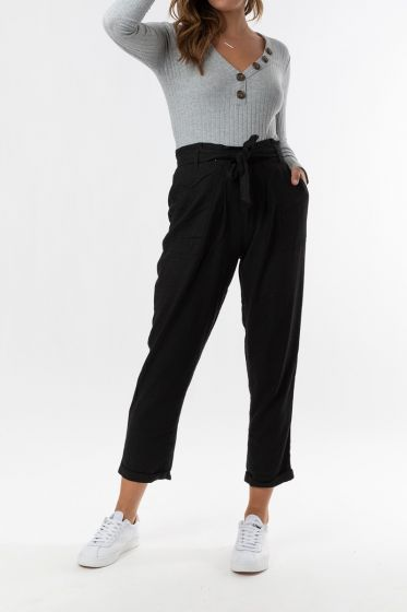 SASS Into The Wild Belted Pant BLACK