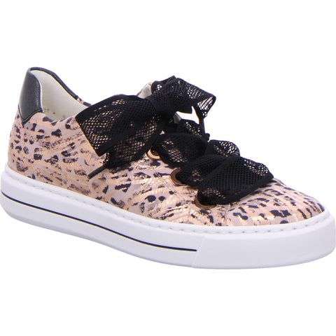Ara Ladies Lace Up Flatform Sneaker Leopard Print