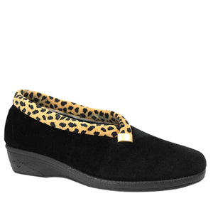 Paloma Leopard Trim Full Ladies Slipper