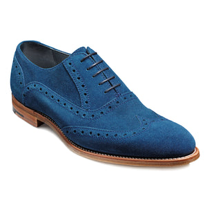 Barker Grant Suede Formal Brogue Shoe