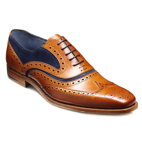 Barker McClean 2 Tone Wingtip Oxford Brogue