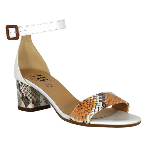 Enclosed Mid Heel Sandal