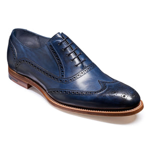 Barker Valiant Blue Hand Painted Brogue Shoe