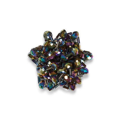 Stella Petrol Beads Shoe Clips
