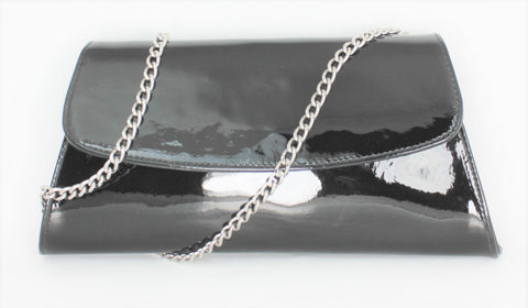 Claudia Patent Clutch Bag