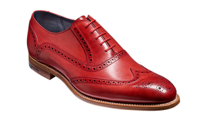 Barker Valiant Red Hand Painted Brogue Shoe