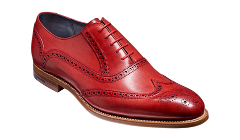 Valiant Red Hand Painted Brogue Shoe