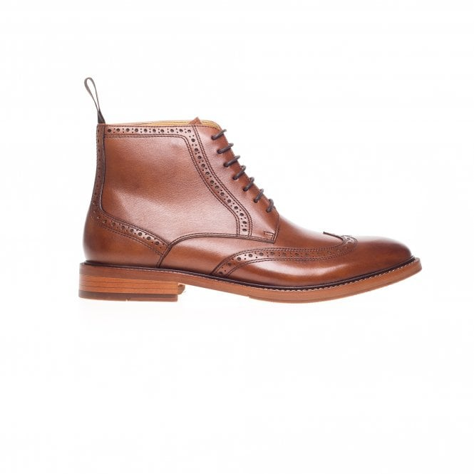 Bicester Lace Up Leather Brogue Boot