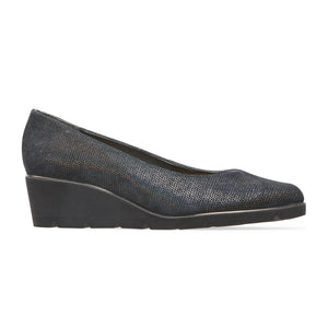 Ariah Suede Wedge Court Shoe