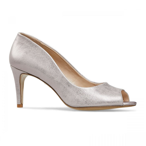 Heigham Peep Toe High Heel Court Shoe