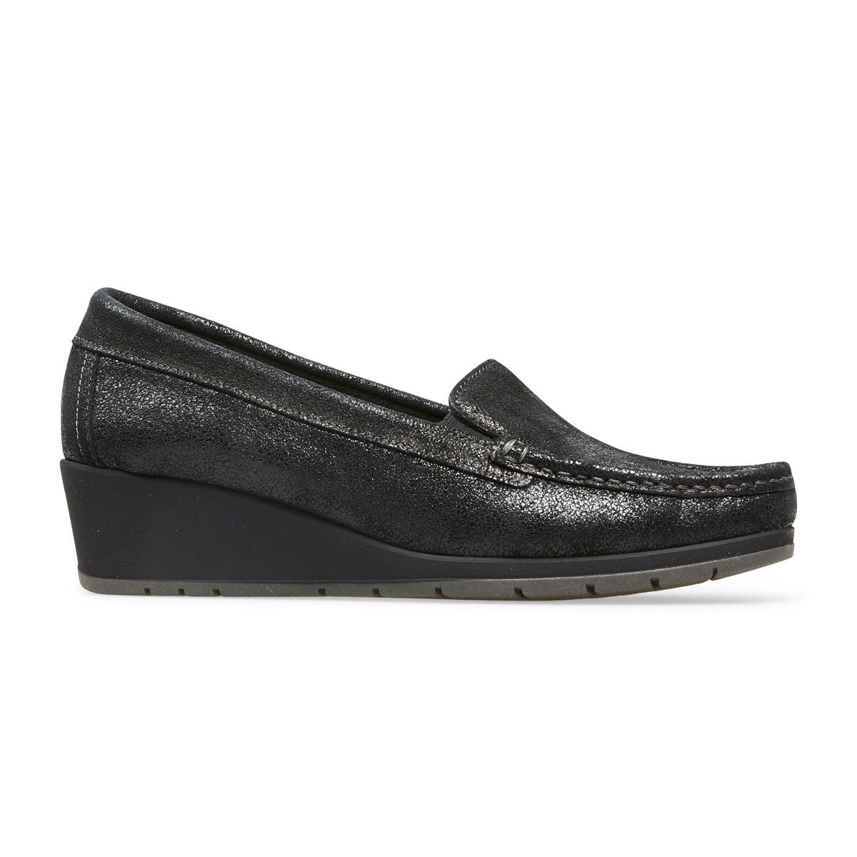 Megan Wedge Heel Loafer Shoe