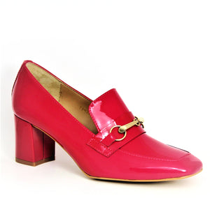 Mid Heel Patent Loafer