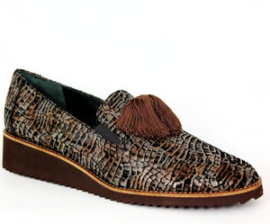 Wedge Heel Tassel Loafer