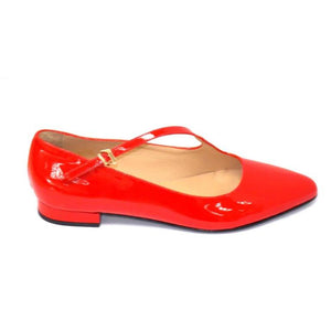 Hopla Patent Mary Jane Low Heel Shoe