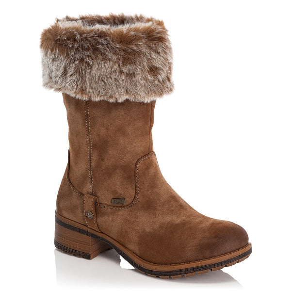 Fold Down Mid Calf 'Tex' Low Heel Boot