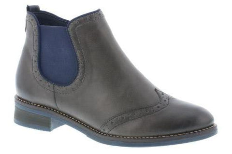 Pull On Chelsea Boot With Brogue Trim